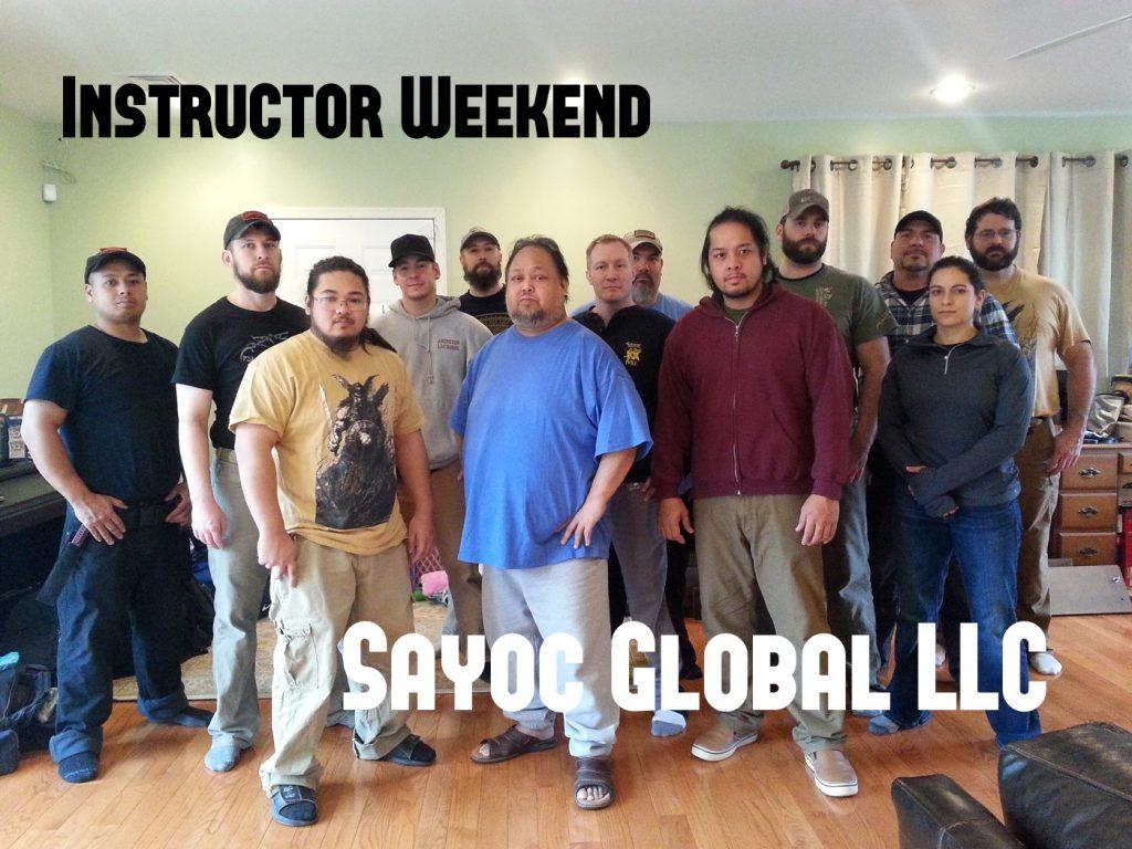 Sayoc Instructor Weekend 2015
