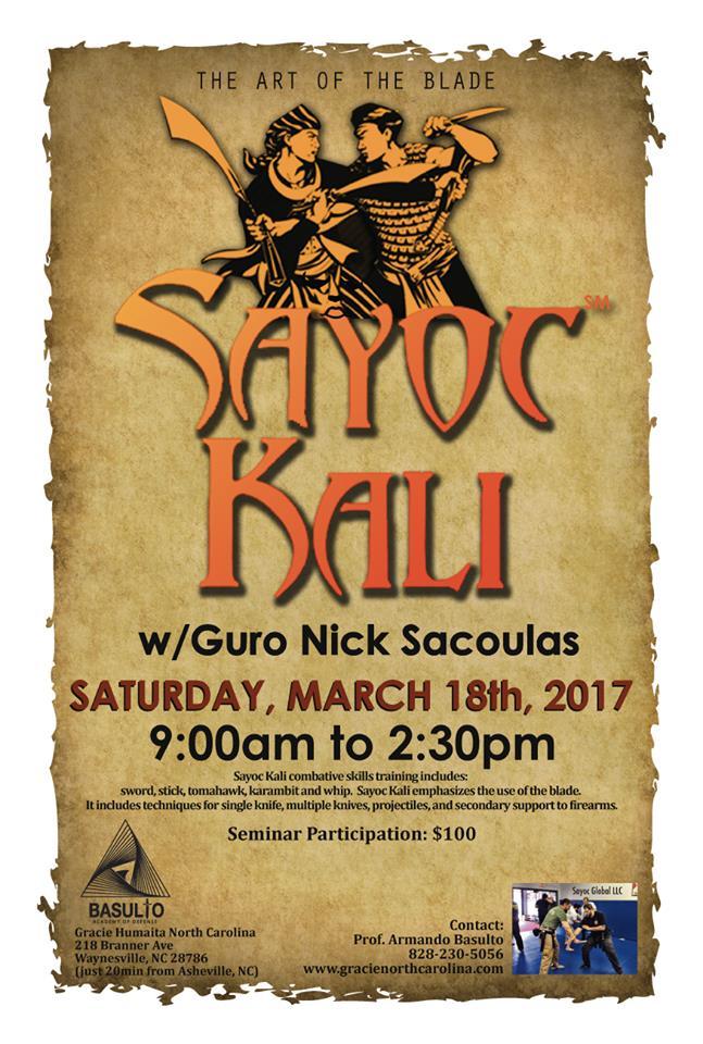 Guro Nick Sacoulas 2017 NC Seminar