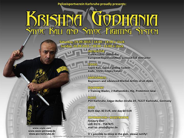 September 2015 Sayoc Seminar - Karlsruhe, Germany - Guro Krishna Godhania
